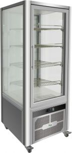 G-VGP400R Refrigerated display cabinet with 4 glass sides - Capacity 408 Lt