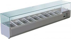 VRX2000-380-FC Vetrina refrigerata inox aisi 201 per bacinelle