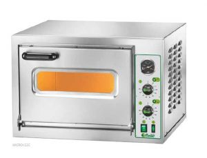 MICROV22C 1 chamber electric oven 40x40x22h glass door with light - Single phase