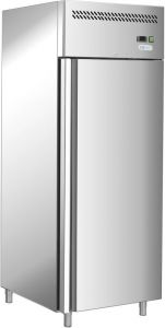 G-GN650BT-FC - Ventilated refrigerator -18 / -22 °, single door, stainless steel frame AISI201