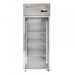 G-GN650TNG-FC Ventilated Refrigerator Cabinet GN 2/1 - Glass Door - Capacity Lt 650