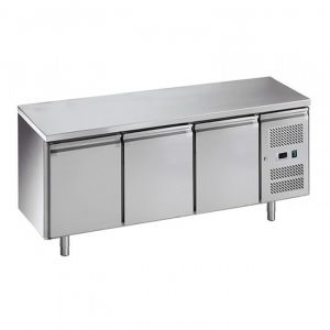 G-PA3100TN-FC Pastry Refrigerated Table - 3 Doors - Temp -2 ° + 8 ° C - Capacity Lt 580