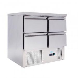 G-S901-4D-FC Static Saladette for salads GN1 / 1 - 4 drawers - Capacity Lt 220