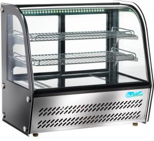 G-VPR100 Espositore refrigerato vetrina da banco a vetro -  100 litri potenza 160 W