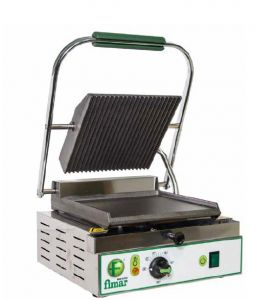 PE25LN Cast iron electric grill smooth/grooved single singlephase 1700W