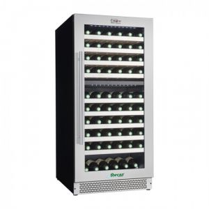 VI120D Wine cellar for Ventilated Wines ENOLO - Double Temperature - Capacity Lt 261