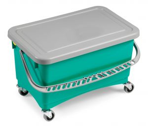 00002910 Jim Bucket With Wringing And Lid - Green