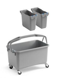 00003260K08 Eroy Bucket E-08 - Gray - With Wheels