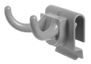 00003348E Double hook with connection for narrow profile - Gray