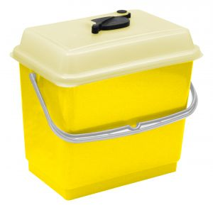00003380 BUCKET 4 L WITH COVER - YELLOW