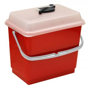 00003381 4 L Bucket With Cover - Red