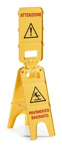 00003571 SIGN 3 DOORS - IT - YELLOW - WITH AGGA SYSTEM