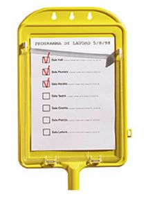 00003590 Note Holder Table - Yellow