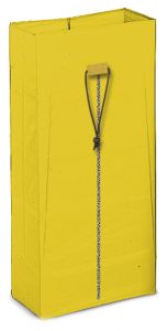 00003623 PLASTICIZED 120 L BAG WITH ZIP - YELLOW