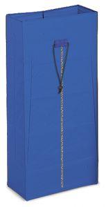 00003628 120 L Plasticized Sack With Zipper - Blue