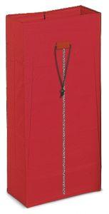 00003629 Sacco Plastificato 120 L Con CERniERa - Rosso
