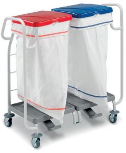 00004173 Dust Laundry Basket 4173 - With Pedal - 2 X 70 Lt
