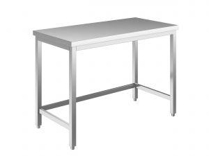 EUG2206-13 tavolo su gambe ECO cm 130x60x85h-piano liscio - telaio inferiore su 3 lati