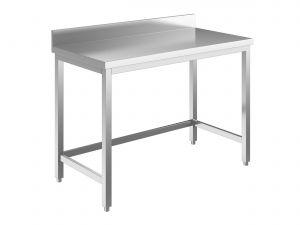 EUG2216-14 tavolo su gambe ECO cm 140x60x85h-piano con alzatina - telaio inferiore su 3 lati