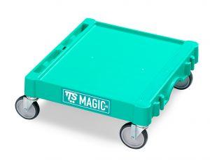 T09060400 MAGIC MINI BASE - GREEN - WHEELS ø 100 MM