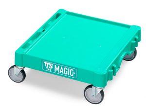 T09060411 BASE MAGIC MINI - GREEN - WHEELS WITH BRAKE ø 125 MM