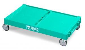 T09070411 LARGE MAGIC BASE - GREEN - WHEELS WITH BRAKE ø 125