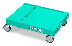 T09080401 Base Magic Piccola - Verde - Ruote Con Freno Ø 100