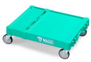 T09080412 Base Magic Piccola - Verde - Ruote per Esterni Ø 1