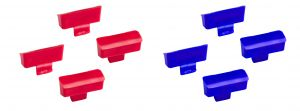 V050126 Set Tappi Codice Colore per Vaschetta Eroy - Blu-R