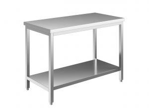 EUG2308-19 tavolo su gambe ECO cm 190x80x85h-piano liscio - ripiano inferiore