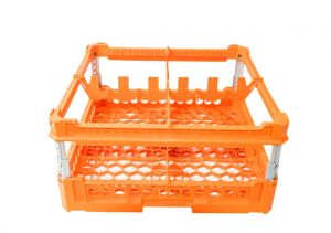 GEN-K32x2 CLASSIC BASKET 4 SQUARE COMPARTMENTS - Cup height from 120mm to 240mm
