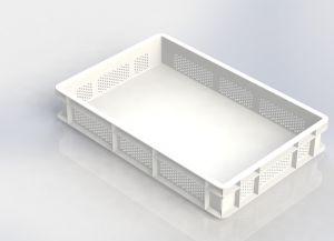 GEN-VAS010-FC Vaschetta pasta forata chiusa 600x400 Altezza 100mm