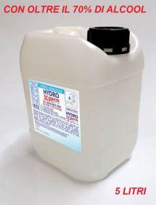 T799052-TAN5 Gel igienizzante mani TANICA 5 LITRI base idralcolica oltre il 70% con scheda tecnica
