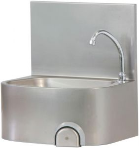 TLM 48 Stainless steel wash basin wall mounted