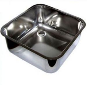 LV45/45/30 stainless steel cleaning sink-bowl to be welded dim. 450x450x300h