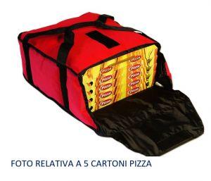 BTD4020 Borsa termica alto isolamento per 4 cartoni pizza ø 40 cm