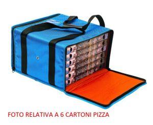 BTR3320 Borsa termica rigida per 5 cartoni pizza ø 33 cm zip