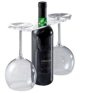 EB00201 GLASSES - Espositore per vino e bicchieri per bottiglie foro 3,3 cm