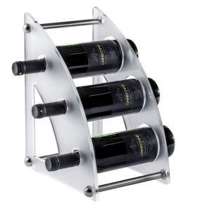 EV01406 CURVY 2 Display in plexiglass satinato per bottiglie ø 8,2 cm