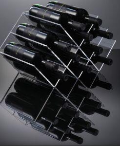 EV02801 GEOMETRIC - Display vino da ripiano a 12 sedi per bottiglie ø 8,2 cm