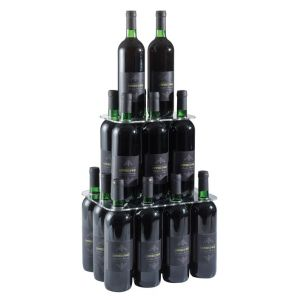 EV04301 PIRAMID - Alzatina piramide venti sedi per bottiglie con foro ø 3,3 cm