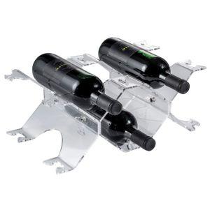 EV04901 MODULAR - Portabottiglie modulare da appoggio (3 sedi per modulo) per bottiglie ø 8,2 cm