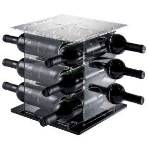 EV05108 CUBE - Portabottiglie base nera per bottiglie ø 8,2 cm