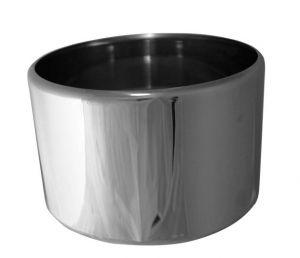 MI-GE20125 Mezza carapina in acciaio inox professionale diam.mm 200x125 h VGCV00-2