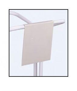 T789133 Pannello segnaletico neutro metallo bianco per reggisacco