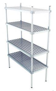Scaffale in alluminio 4 ripiani dim. cm 190x50x180h code:SN50190H180