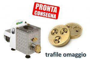 MPF15N-TRAF1 Macchina pasta fresca Monofase vasca 1,5 kg + 2 Trafile OMAGGIO
