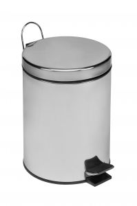 T101050 Polished Stainless Steel Pedal Bin 5 liters (Pack of 6 pieces)