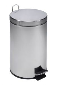T101120 Polished Stainless Steel Pedal Bin 12 liters (Pack of 4 pieces)