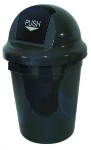 T102010 Gettacarte Push plastica grigio 110 litri (multipli 3 pz)